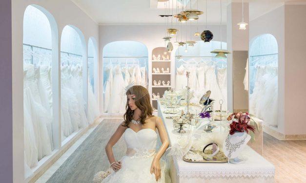 White Silhouette Brautmode